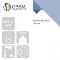 Pictogrammes de mise en oeuvre et certification(s) pour le Saturateur pour bois et composite Obbia