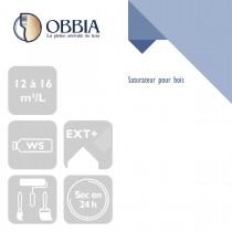 Pictogrammes de mise en oeuvre et certification(s) pour le Saturateur pour bois Obbia