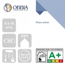 Pictogrammes de mise en oeuvre et certification(s) pour le Peinture primaire Obbia