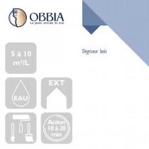 Pictogrammes de mise en oeuvre et certification(s) pour le Dégriseur bois Obbia