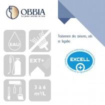 Pictogrammes de mise en oeuvre et certification(s) pour le Traitement des toitures sols et façades Obbia