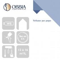 Pictogrammes de mise en oeuvre et certification(s) pour le Vitrificateur pour parquet Obbia